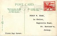1943 1st June 1d scarlet postcard with St. Hellier Jersey on the front ACTUAL ITEM