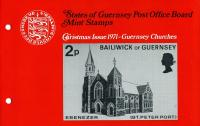 1971 Christmas Guernsey Churches pack
