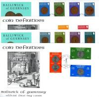 1979 Guernsey Coins 4 definitive covers