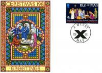 1981 Christmas Card with First Day of Issue cancellation