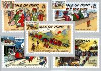 1990 Isle of Man Edwardian Cards
