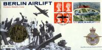 1999 The Berlin Airlift coin cover with medal - cat value £10