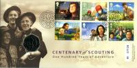 2007 Centenary of Scouting coin cover with 50p coin - cat value £23