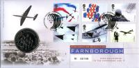 2008 Farnborough Air Show coin cover with medal - cat value £22
