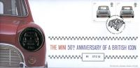 2009 Anniversary of the Mini coin cover with medal - cat value £22