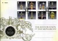 2011 350th Anniversary of Monarchy Restoration coin cover with £5 coin - cat value £18
