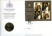 2011 Royal Wedding coin cover with £5 coin - cat value £26