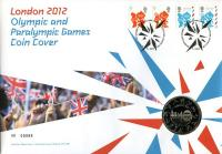2012 Olympic & Paralympic Games coin cover with £5 coin - cat value £26