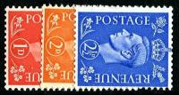 Set of 3 stamps SG486a to 489a