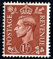 SG 487 1941 1½d pale brown