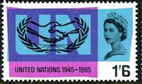 1965 United Nations 1s 6d