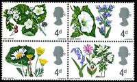 1967 Flowers 4d block phos
