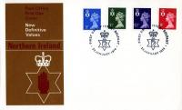 Northern Ireland 1974 23rd January 3p,3½p,5½p,8p Cardiff CDS post office cover