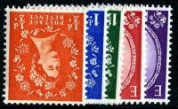 SG 587wi - 592wi Set of 5  1969 graphites watermark inverted