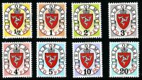 SG: D1 D8  1973 Set of 8 from ½p - 20p