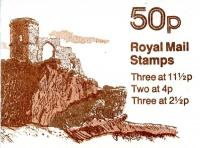SG: FB18b 50p Mow Cop Castle with 11½p left band