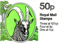SG: FB23a 50p Bagot Goat with 12½p right band