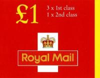 SG: FH41b £1 New Style 2x1p, 20p, 26px3 without overseas post table