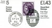 SG: FN4b £1.43p Forces Mail RM