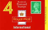 SG: GJ1a Machin £1.32p  for  Worldwide Postcards on yellow strip (w)