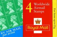 SG: GR4 Machin £2.52p with new design airmail labels (w)