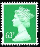 SG Y1732 63p emerald 2 band VFU