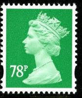 SG Y1738 78p emerald 2 band VFU