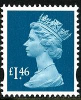 SG Y1745 £1.46p turquoise VFU