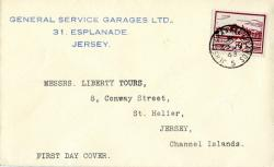 1943 29th June 3d violet typed address ACTUAL ITEM