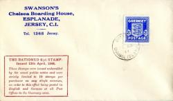 1944 12th April 2½d ultramarine typed address ACTUAL ITEM