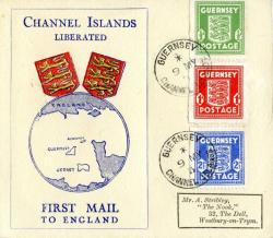 1945 Channel Islands Liberated ACTUAL ITEM