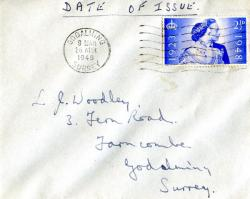 1948 dated 26th April wavy lines cancellation Godalming 2½d single. ACTUAL ITEM