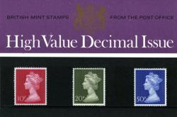 1970 3 High Values pack No 18