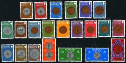 1979 Guernsey Coins set of 22 stamps