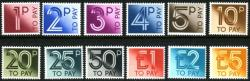 SG: D90-D101 1982 set of 12 postage dues