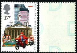 1985 Royal Mail 17p underprint