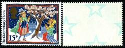 1986 Christmas 13p underprint ( Printed stars on reverse of stamp)