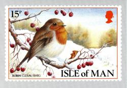 1988 Christmas Card with First Day of Issue cancellation stamp on inside cover