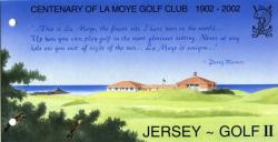 2002 La Moye Golf Club pack