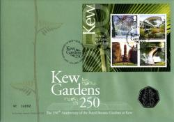 2009 Kew Gardens coin cover with 50p rare coin