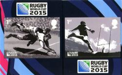 2015 Rugby self adhesive 2 values  (SG3756-3757)