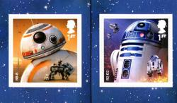 2017 Star Wars self adhesive BB8 & RD2 (SG4017-4018)