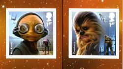 2017 Star Wars self adhesive Maz-Kanata & Chewbacca (SG4015-4016)