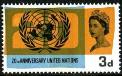 1965 United Nations 3d phos