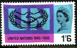 1965 United Nations 1s 6d phos