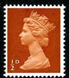 SG 723 ½d orange-brown