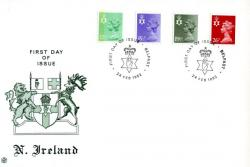 Northern Ireland 1982 24th February 12½p.15½p,19½p,26p Belfast CDS