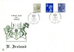 Northern Ireland 1983 27th April 16p, 20½p,28p  Belfast CDS