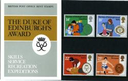 1981 Duke Edinburgh Awards pack