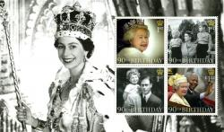 SG3826b 2016 Queens 90th Birthday 4 x stamps
